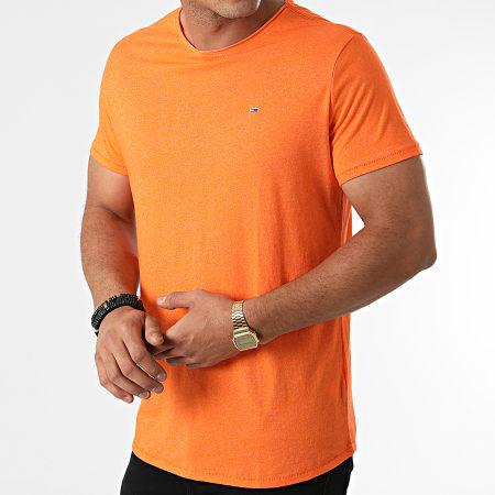 Tommy Jeans - Tee Shirt Oversize Slim Jaspe 9586 Orange Chiné