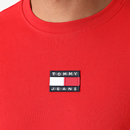 Tommy Jeans - Tee Shirt Tommy Badge 0925 Rouge