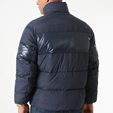 Tommy Jeans - Doudoune Tonal Colorblock 1207 Bleu Marine