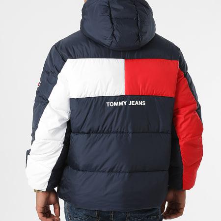 Tommy Jeans - Doudoune Capuche Back Flag 2170 Bleu Marine