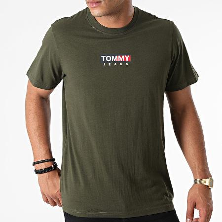 Tommy Jeans - Tee Shirt Entry Print 1601 Vert Kaki