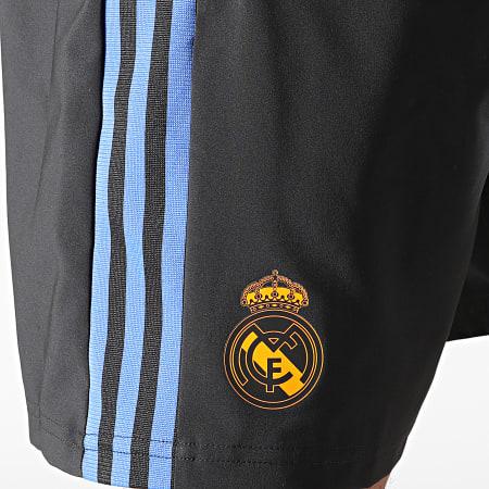 adidas - Short Jogging A Bandes Manchester United GR4344 Noir Bleu