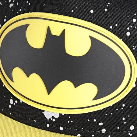 Batman - Casquette Snapback Rubber Logo Noir Jaune