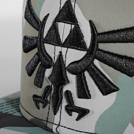 Nintendo - Casquette Snapback Zelda Camo Vert Kaki
