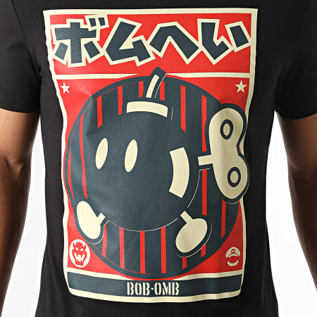 Super Mario - Tee Shirt Bob-Omb Propaganda Noir