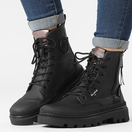Palladium - Boots Femme Pallatrooper Zip 97208 Black Black