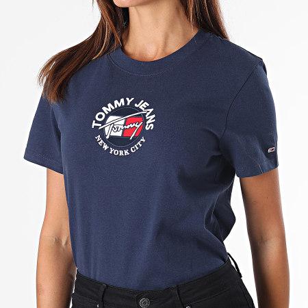 Tommy Jeans - Tee Shirt Femme Regular Timeless 11235 Bleu Marine