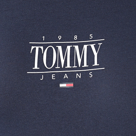 Tommy Jeans - Tee Shirt Femme Skinny Essential Logo 1239 Bleu Marine
