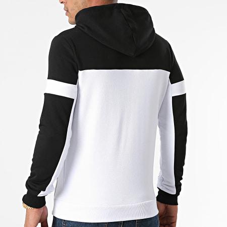 LBO - Sweat Capuche Bicolore 1956 Blanc Noir