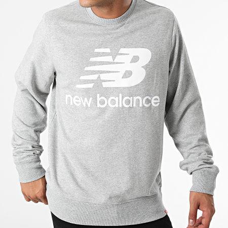 New Balance - Sweat Crewneck MT03560 Gris Chiné