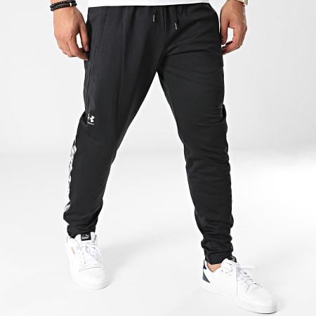 Under Armour - Pantalon Jogging A Bandes UA Tricot Fashion 1366209 Noir