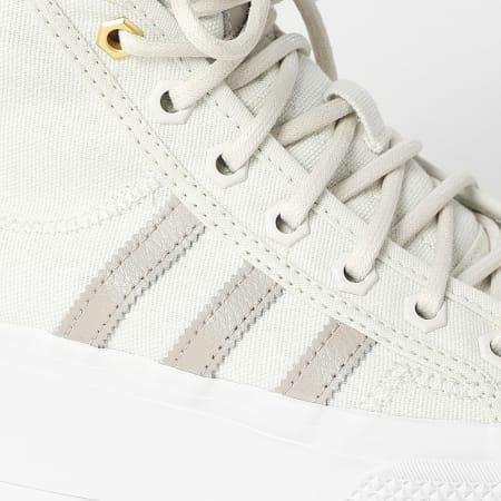 adidas - Baskets Femme Nizza Platform Mid GW6086 Orb Grey Light Brown Crystal White