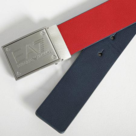 EA7 - Ceinture Réversible 245524 Bleu Marine Rouge