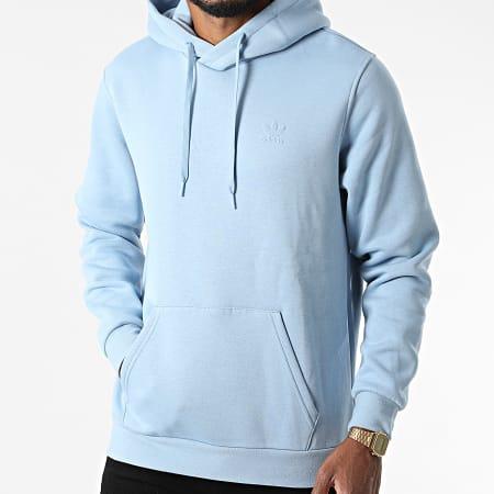 adidas - Sweat Capuche Trefoil H09143 Bleu Clair
