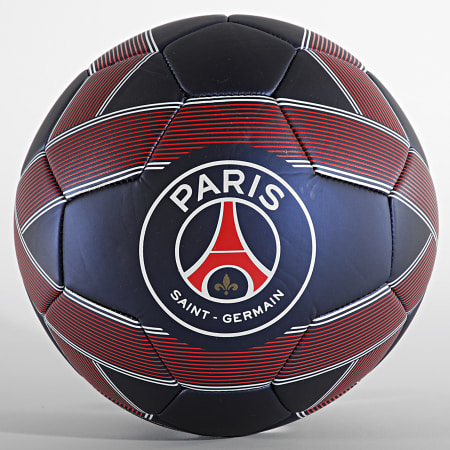 PSG - Ballon De Foot Metallic P14207 Bleu Marine Rouge