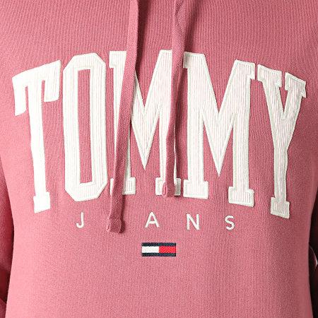 Tommy Jeans - Sweat Capuche Collegiate 2543 Rose Foncé
