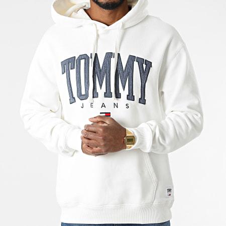 Tommy Jeans - Sweat Capuche Collegiate 2543 Ecru