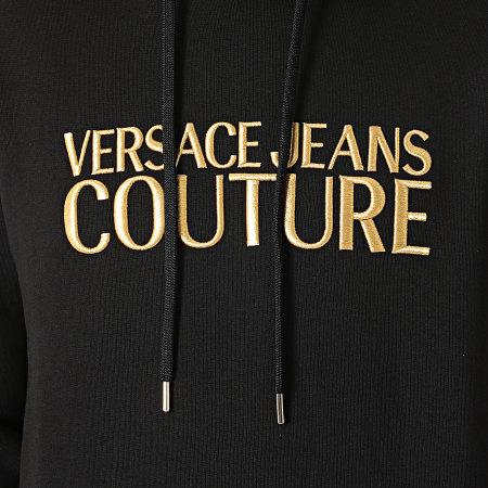 Versace Jeans Couture - Sweat Capuche Logo Embroidery 71GAIT01-CFOOT Noir Doré