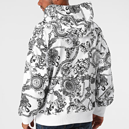 Versace Jeans Couture - Sweat Capuche Print Bijoux Baroque 71GAI3C0-FS004 Blanc Renaissance Floral