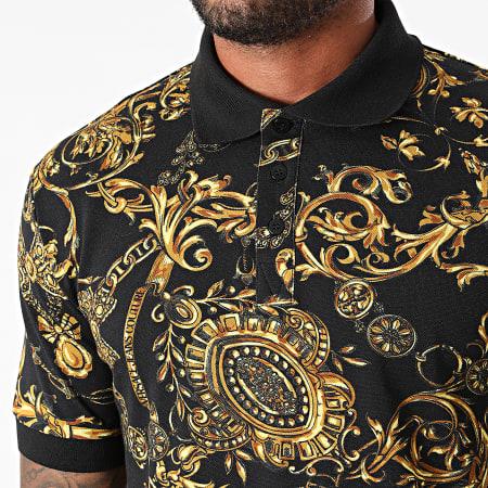 Versace Jeans Couture - Polo Slim Print Bijoux Baroque 71GAG6S0-JS014 Noir Renaissance
