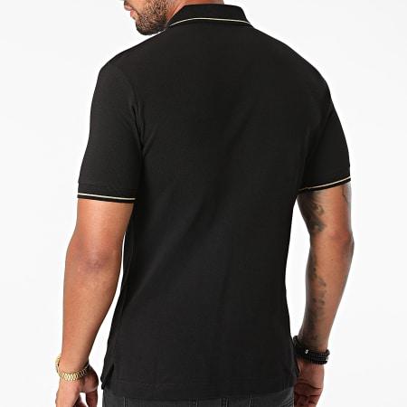 Versace Jeans Couture - Polo Manches Courtes Vemblem Embroidery 71GAGT01-CJ01T Noir Doré