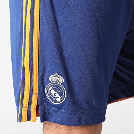adidas - Short Jogging A Bandes Real Madrid GM6787 Bleu Roi