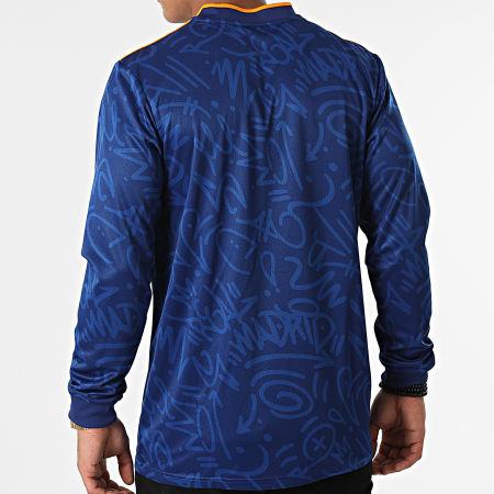 adidas - Tee Shirt De Sport Manches Longues A Bandes Real Madrid GR3988 Bleu Roi