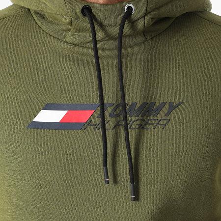 Tommy Sport - Sweat Capuche Logo Fleece 9775 Vert Kaki