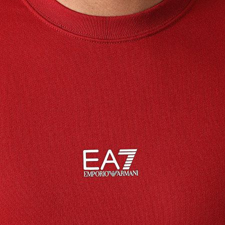 EA7 Emporio Armani - Sweat Crewneck A Bandes 6KPM66-PJ05Z Rouge Foncé