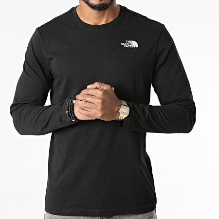 The North Face - Tee Shirt Manches Longues Red Box A493L Noir