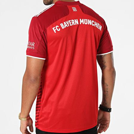 adidas - Tee Shirt De Sport FC Bayern GM5313 Bordeaux