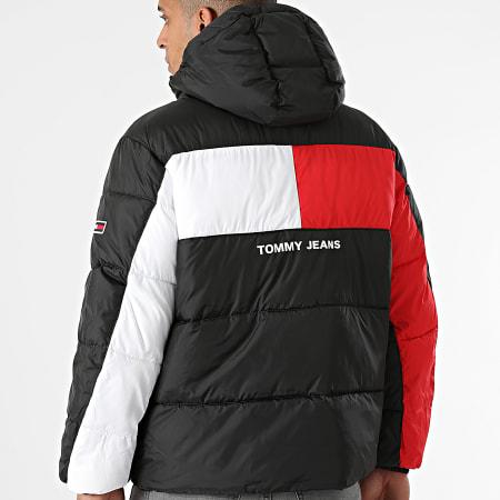 Tommy Jeans - Doudoune Capuche Flag Puffer 2170 Noir