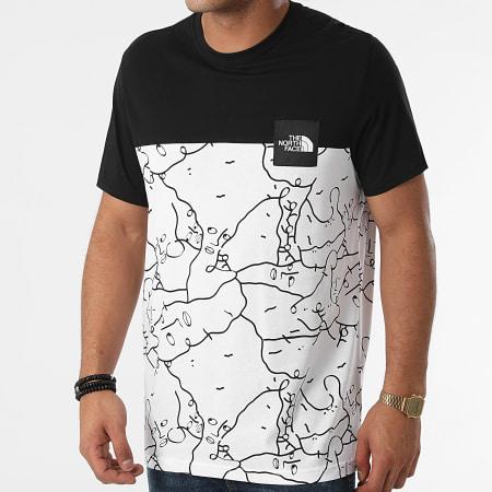The North Face - Tee Shirt A55IB Blanc Noir