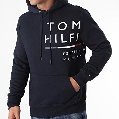 Tommy Hilfiger - Sweat Capuche Wrap Around Graphic 0119 Bleu Marine
