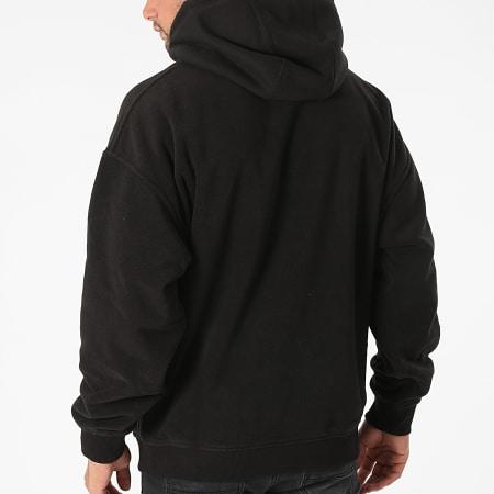 Tommy Jeans - Sweat Capuche Badge Polar Fleece Noir