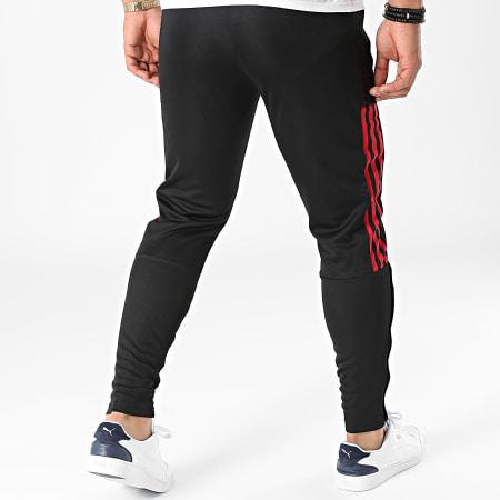 adidas - Pantalon Jogging A Bandes Manchester United GR3788 Noir