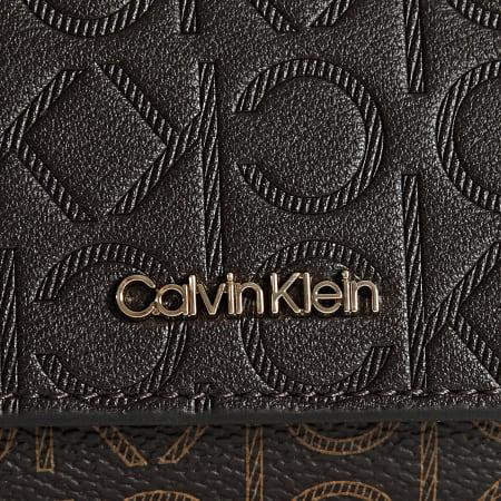 Calvin Klein - Portefeuille Femme Mono Mix 8459 Marron