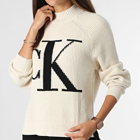 Calvin Klein Jeans - Pull Femme 6595 Beige