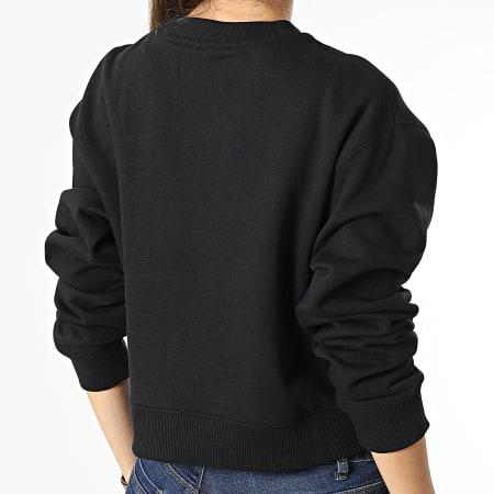 Calvin Klein Jeans - Sweat Crewneck Femme Crop 7298 Noir