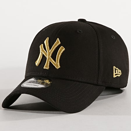 New Era - Casquette New York Yankees Team Contrast 9Forty 60141921 Noir Doré