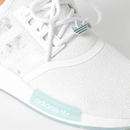 adidas - Baskets Femme NMD R1 GW6066 Cloud White Sky Tint Signal Cyan