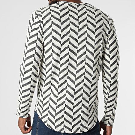 Frilivin - Tee Shirt Manches Longues 15555 Beige Gris