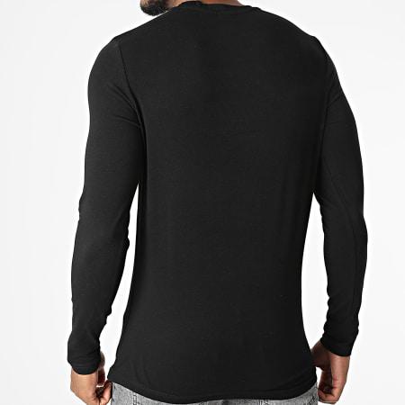 Helvetica - Tee Shirt Manches Longues Edmond Noir