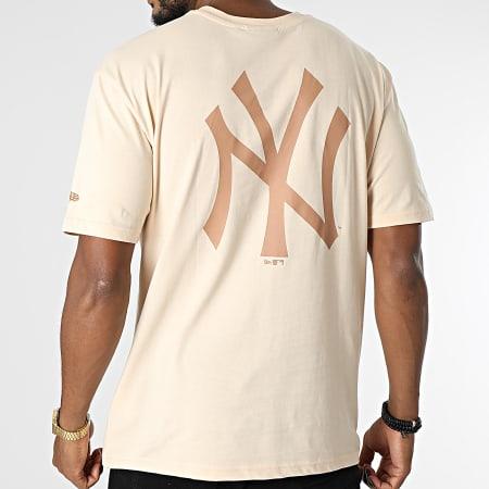 New Era - Tee Shirt Oversize New York Yankees 12890944 Beige
