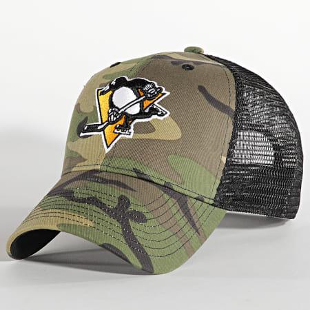 '47 Brand - Casquette Trucker MVP Adjustable Pittsburgh Penguins Camo Vert Kaki