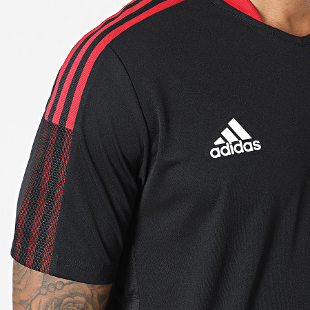 adidas - Tee Shirt A Bandes Manchester United GR3819 Noir