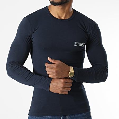 Emporio Armani - Tee Shirt Manches Longues 111023-1A526 Bleu Marine