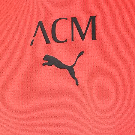 Puma - Tee Shirt De Sport AC Milan Prematch 764442 Orange Fluo
