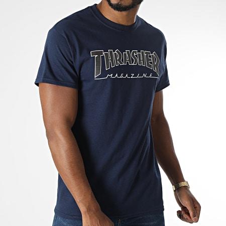 Thrasher - Tee Shirt THRTS178 Bleu Marine