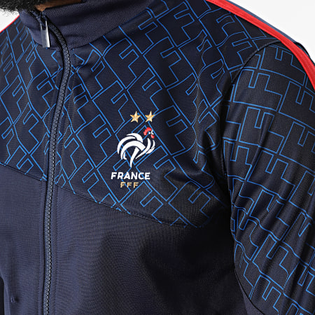 FFF - Veste Zippée A Bandes F21017 Bleu Marine